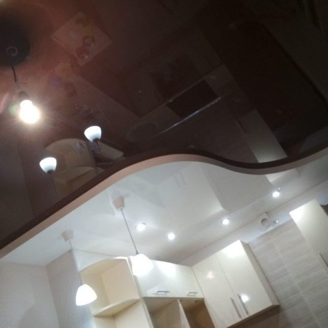 Пример работы по натяжным потолкам